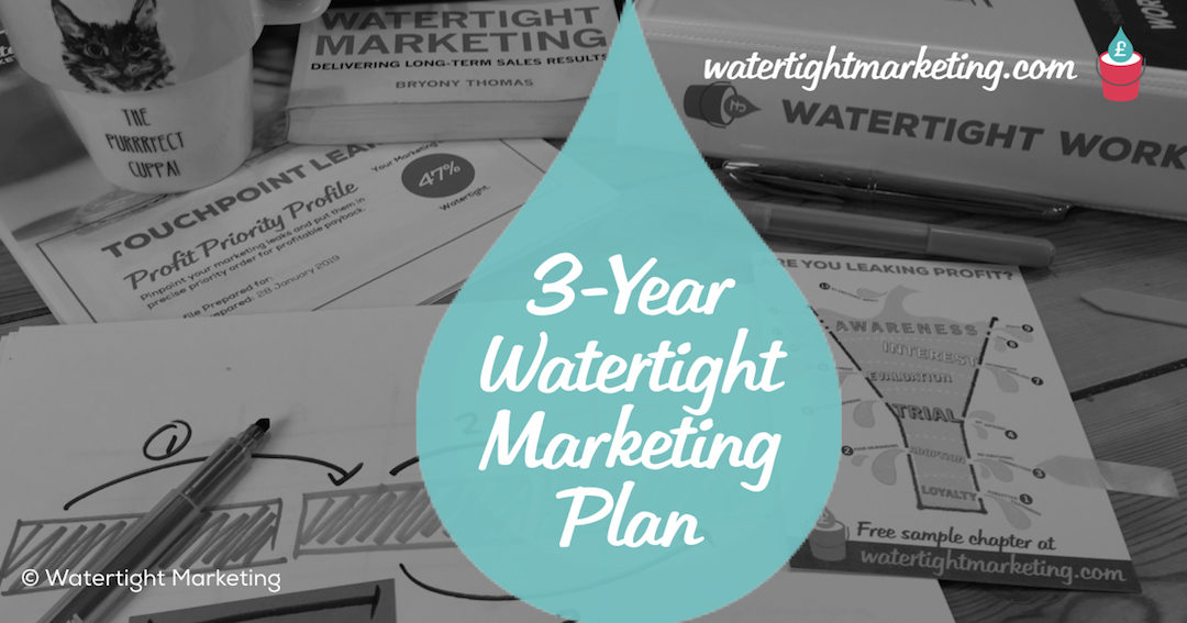 How to use Watertight Marketing to build a 3-year plan