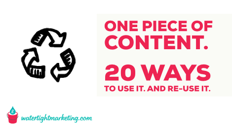One piece of content. 20 ways to use it.
