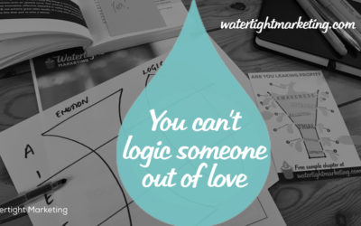 You can't logic someone out of love