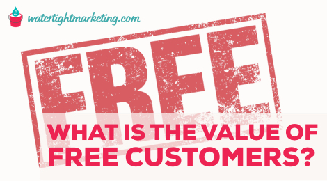 What is the value of free customers?