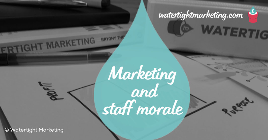 The effect of marketing on staff morale