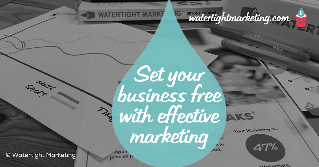 Truly effective marketing sets you and your business free