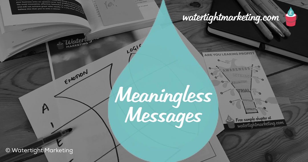 Marketing messages are often meaningless. Scenarios almost always make sense.