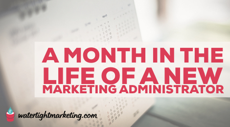 A month in the life of a new marketing administrator