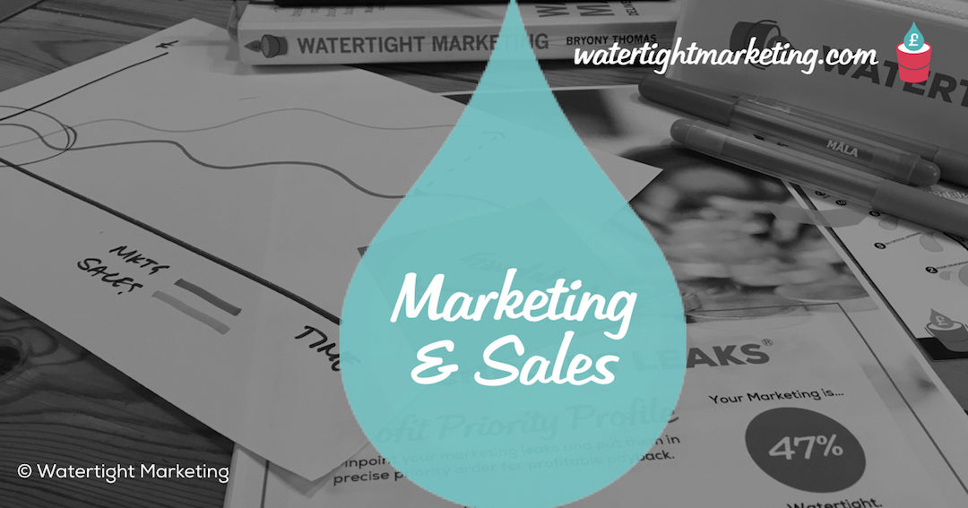 Marketing and sales – what's the difference?