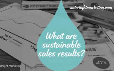 What are sustainable sales results?