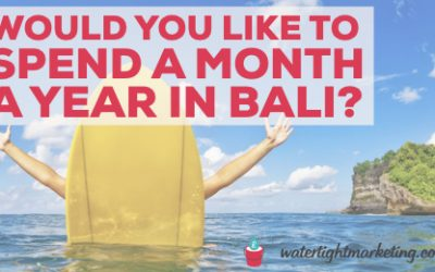 Would you like to spend a month a year in Bali?