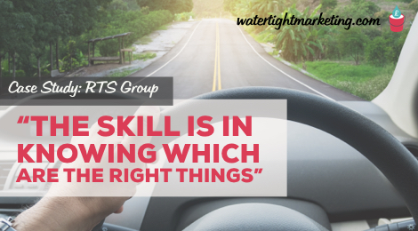 "Case Study: ""The skill is in knowing which are the right things"""