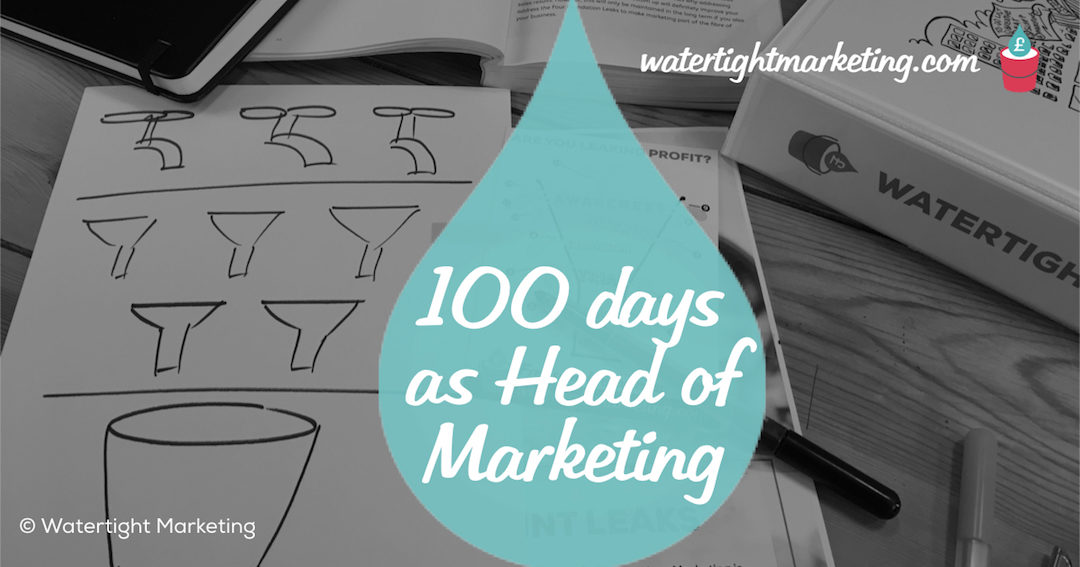 10 ideas for the first 100 days as head of marketing