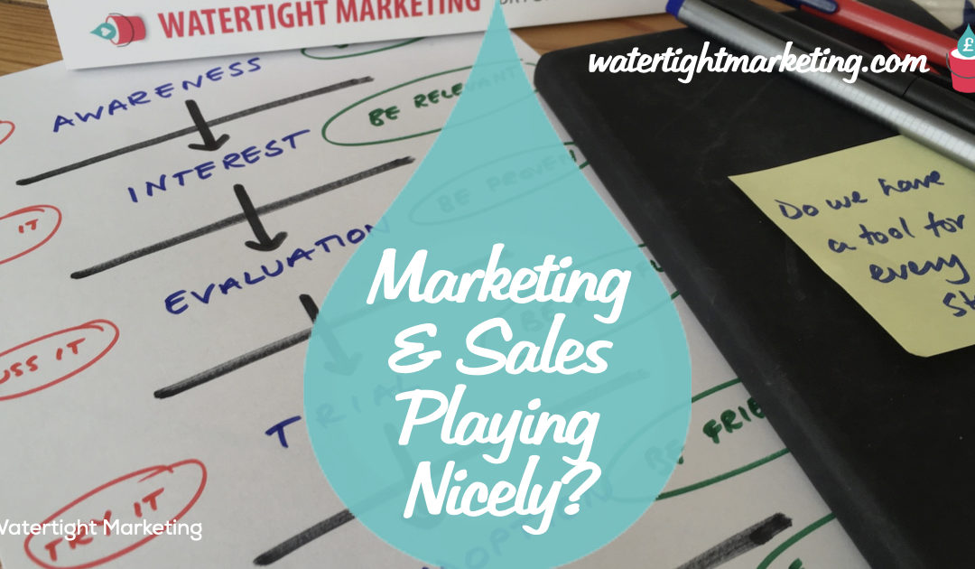 Marketing and sales; playing nicely together
